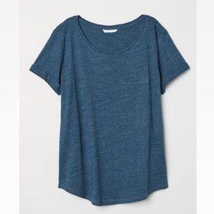 H&M T-Shirt // blue
